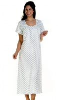 La Marquise Cotton Rich Short Sleeve Long Nightdress